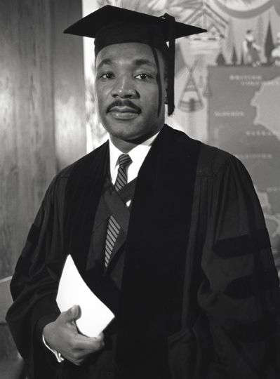 Dr. Martin Luther King, Jr. receives honorary degree at Boston University, 1959