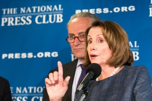 Nancy Pelosi and Chuck Schumer (Noel St. John) Feb. 27, 2017