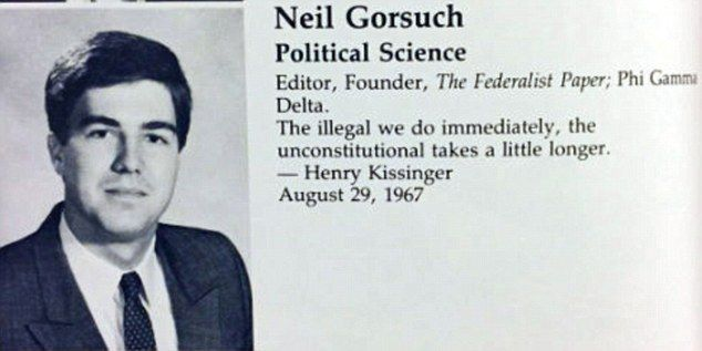 Neil Gorsuch Kissinger Quotation at Columbia