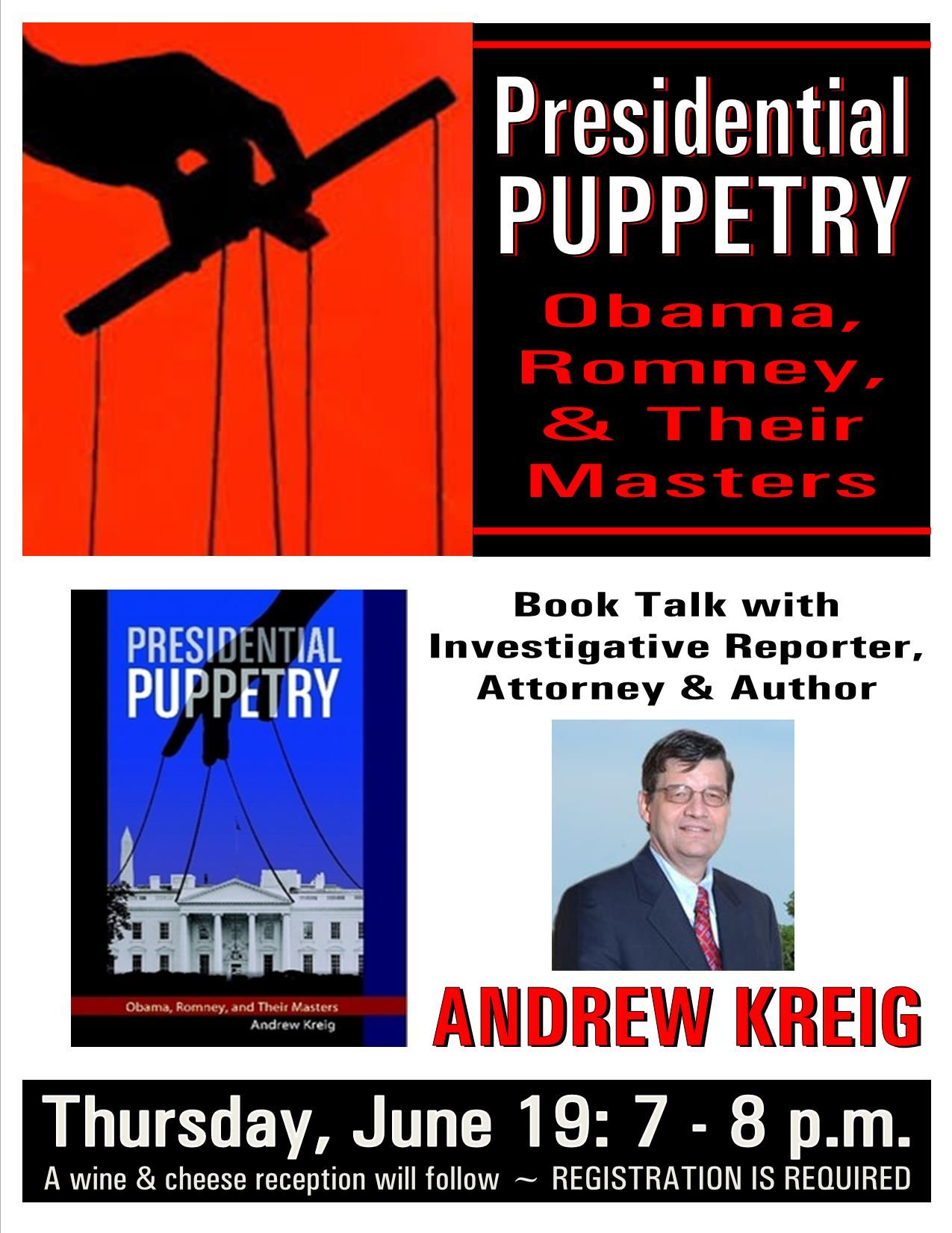 'Presidential Puppetry' Author Speaks on NSA in Litchfield, CT
