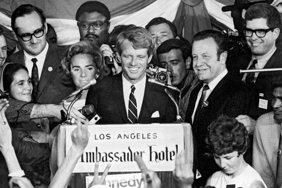 Robert Kennedy Victory Speech Ambassador Hotel, June 6, 1968