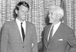 Robert F. Kennedy with CIA Director John McCone