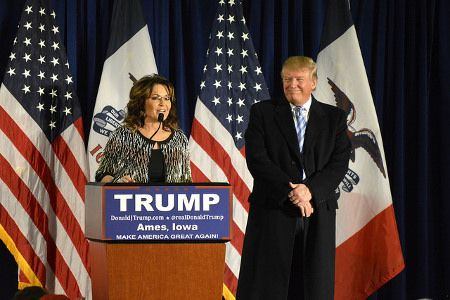 Sarah Palin, Donald Trump Jan. 19, 2016 endorsement Alex Henson via Flickr