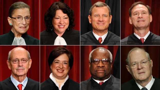 U.S. Supreme Court Eight Members 2016