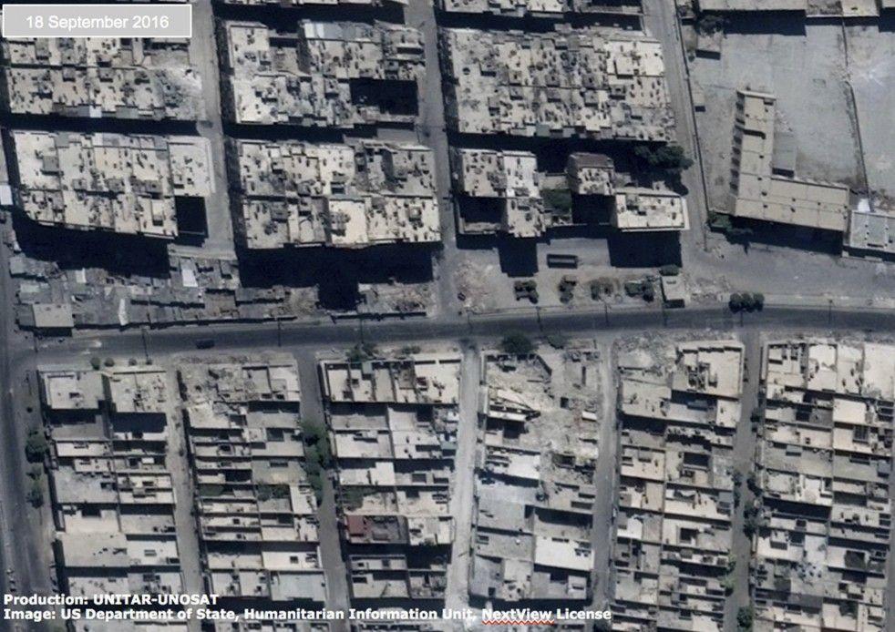 Syria photos of Aleppo damage Oct. 5, 2016