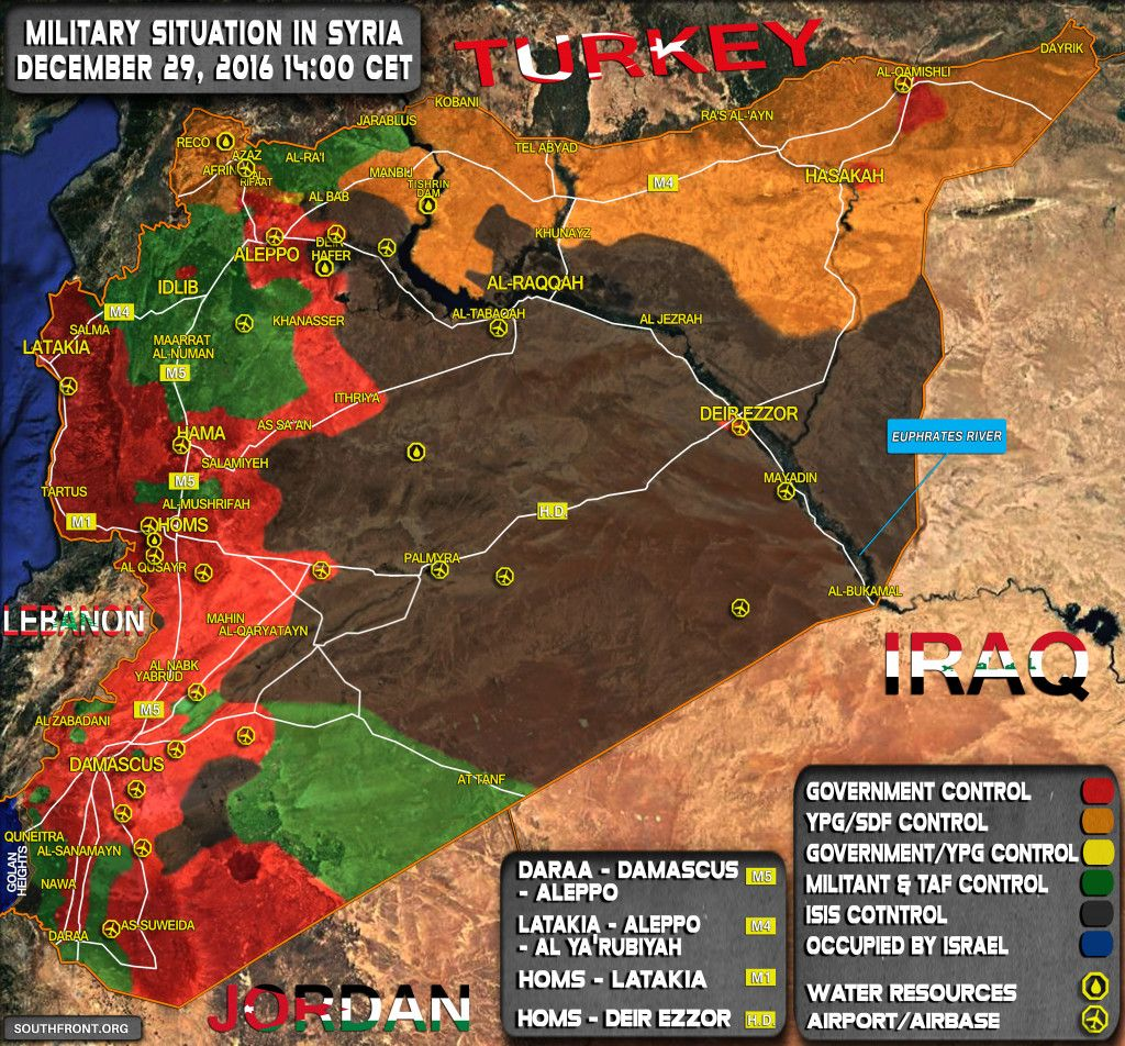 Syria map SouthFront
