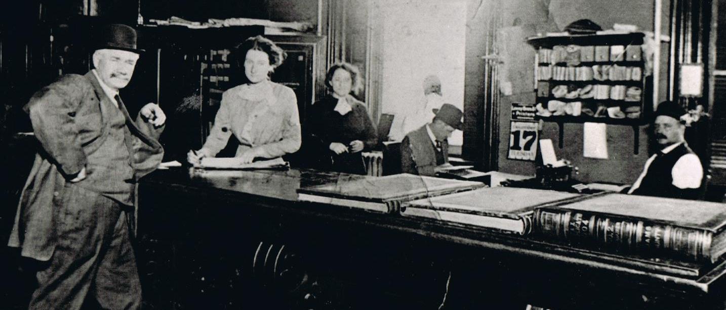 Thomas Baltzell, Adams County Auditor circa 1913 in Indiana