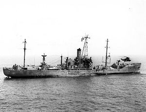 USS Liberty day after June 8,1967 attack.